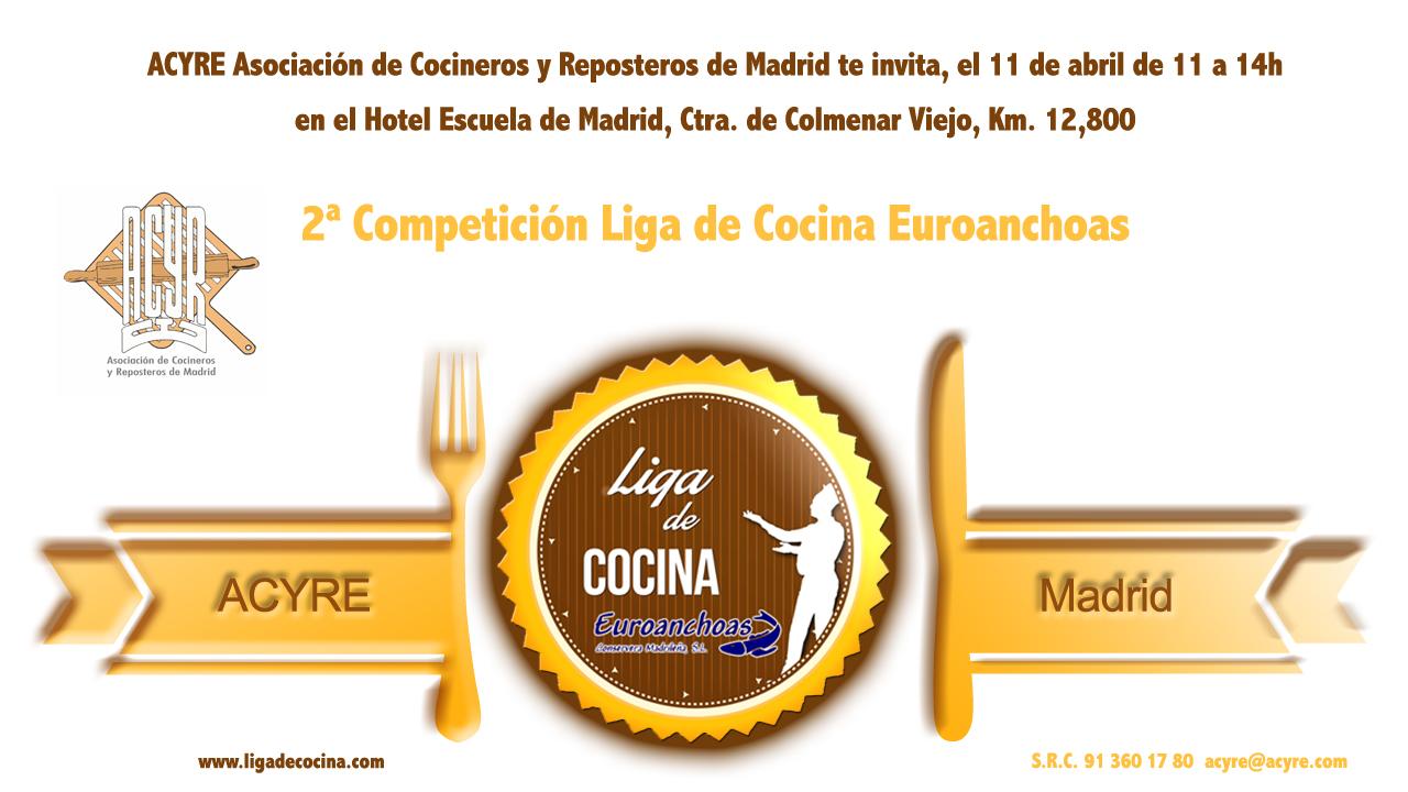 Invitación 2 Competición Liga de Cocina