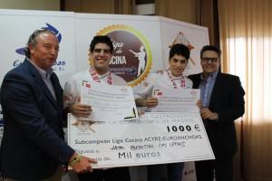 Subcampeón de la Liga de Cocina: Agustín Herrera y Jose A. Corral del Hotel Iberostar Las Letras.