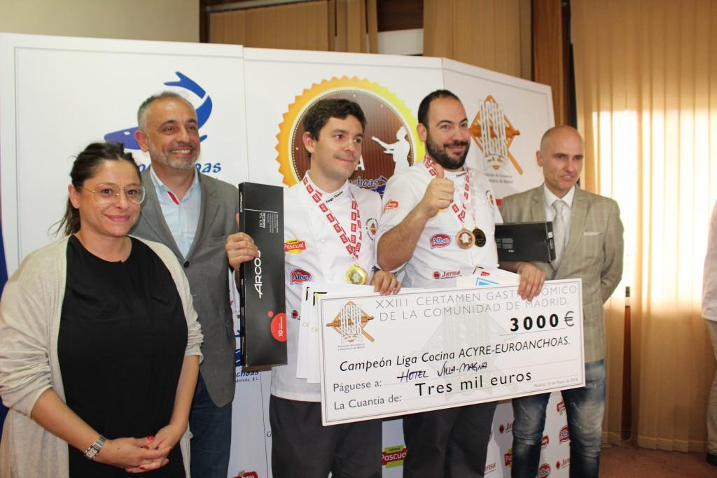 Campeón de la Liga de Cocina: Francisco Moyano y Diego Tirados del Hotel Villa Maga