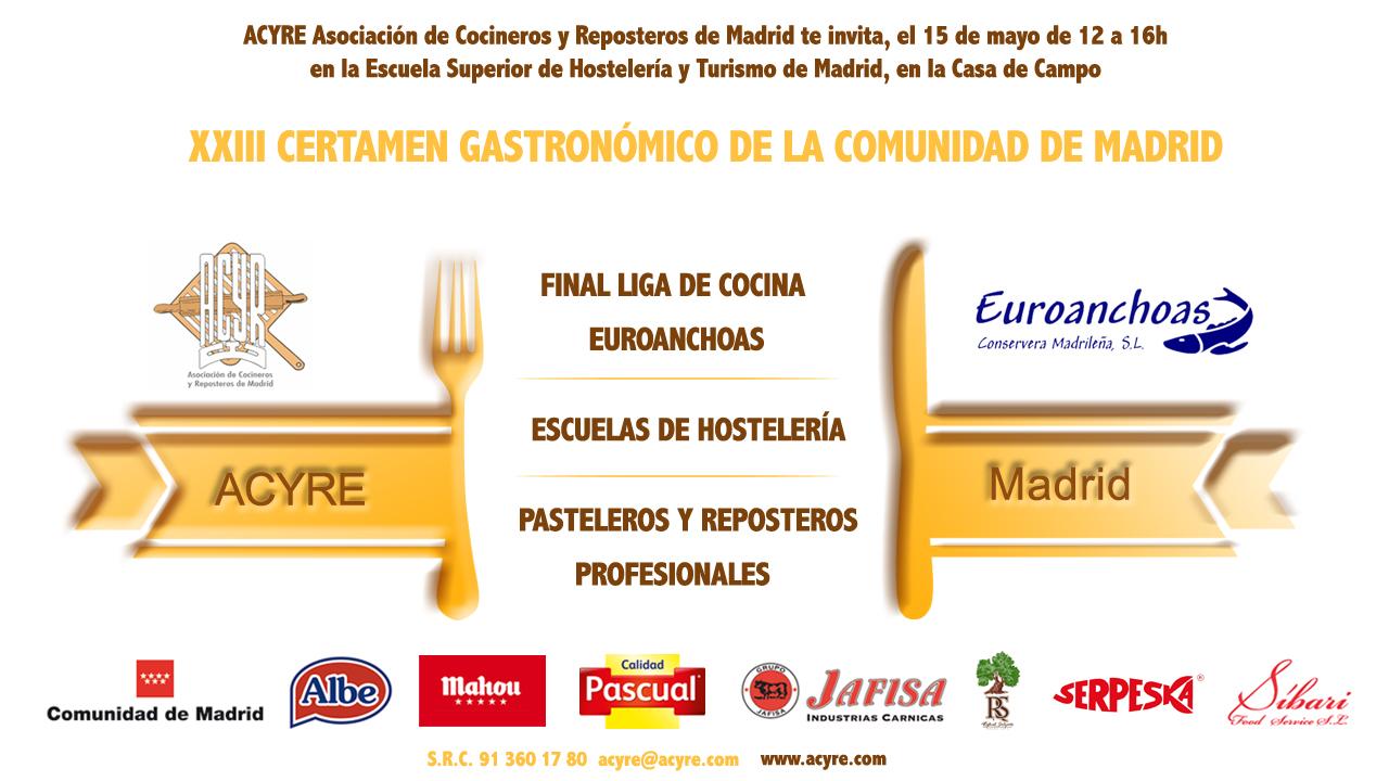 Invitación XXIII Certamen Gastronómico y Final Liga de Cocina ok